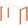 Стол письменный на металлокаркасе S-31 апельсин