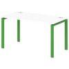 Стол письменный на металлокаркасе S-32 зеленый лайм