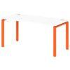 Стол письменный на металлокаркасе S-33 апельсин