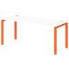 Стол письменный на металлокаркасе S-34 апельсин