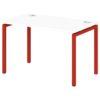Стол письменный на металлокаркасе S-35 земляника