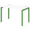 Стол письменный на металлокаркасе S-35 зеленый лайм