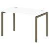 Стол письменный на металлокаркасе S-35 тирамису