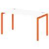 Стол письменный на металлокаркасе S-36 апельсин