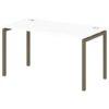 Стол письменный на металлокаркасе S-36 тирамису