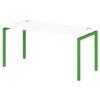 Стол письменный на металлокаркасе S-37 зеленый лайм