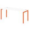 Стол письменный на металлокаркасе S-38 апельсин
