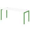 Стол письменный на металлокаркасе S-38 зеленый лайм