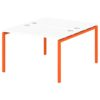 Стол-тандем на металлокаркасе S-41 апельсин