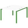 Стол-тандем на металлокаркасе S-41 зеленый лайм