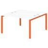 Стол-тандем на металлокаркасе S-42 апельсин