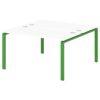 Стол-тандем на металлокаркасе S-42 зеленый лайм
