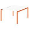 Стол-тандем на металлокаркасе S-47 апельсин