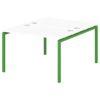 Стол-тандем на металлокаркасе S-47 зеленый лайм