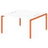 Стол-тандем на металлокаркасе S-48 апельсин