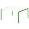 Стол-тандем на металлокаркасе S-48 зеленый лайм