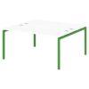 Стол-тандем на металлокаркасе S-49 зеленый лайм