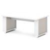 стол для переговоров L-102 Белый Альба Маргарита и Серый Шелк
