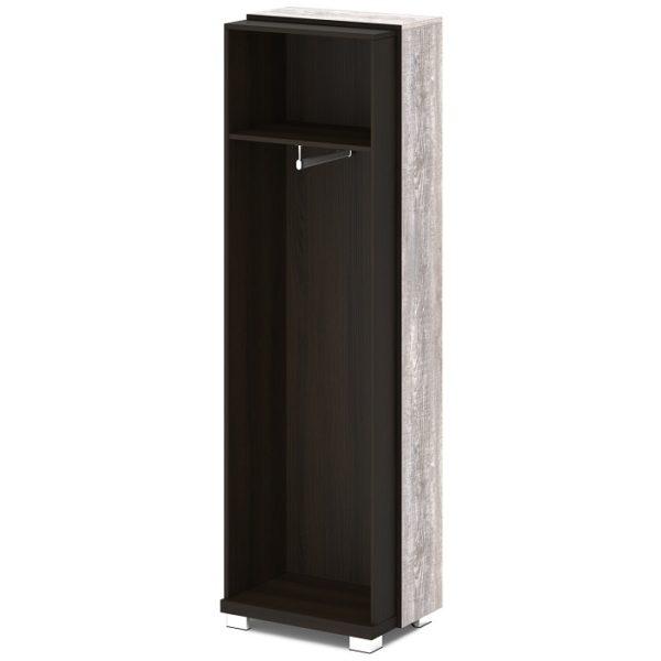 Каркас шкафа для одежды L-56к Дуб Линдберг Темный и Бетон Пайн