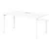 Дополнительное место к одиночному столу S-505 белый