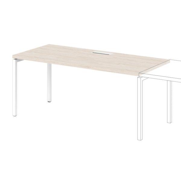 Дополнительное место к одиночному столу S-506 дуб верцаска светлый