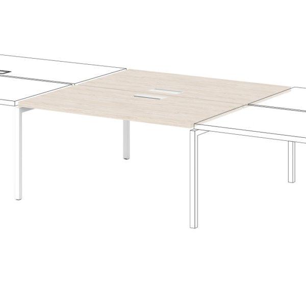 Промежуточная секция для расширения столов-бенч S-535 дуб верцаска светлый