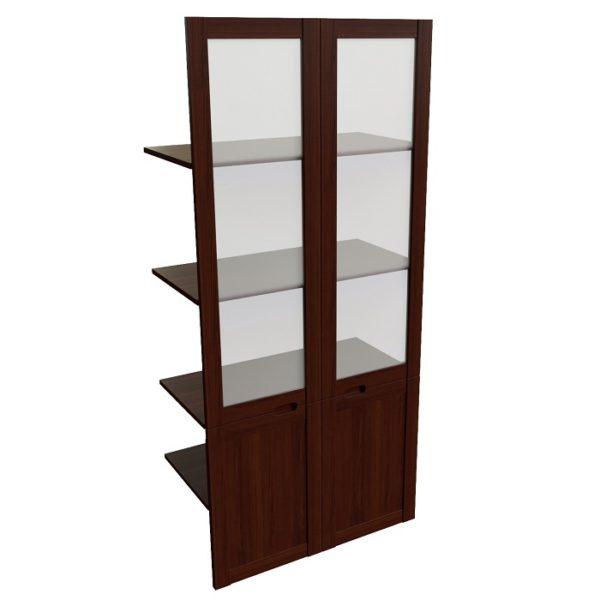 Наполнение двустворчатого шкафа со стеклом Princeton 22551