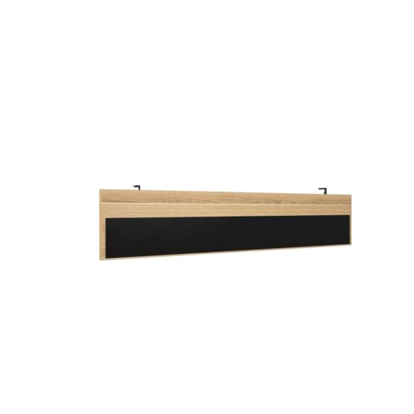 Модести-панель для стола на металлокаркасе КТП-17 Дуб светлый