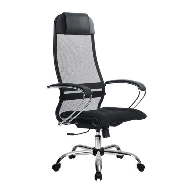 Кресло Metta SU-1-BK Комплект 1 хром овальное сечение