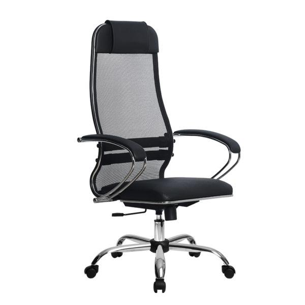 Кресло Metta SU-1-BK Комплект 16 хром овальное сечение
