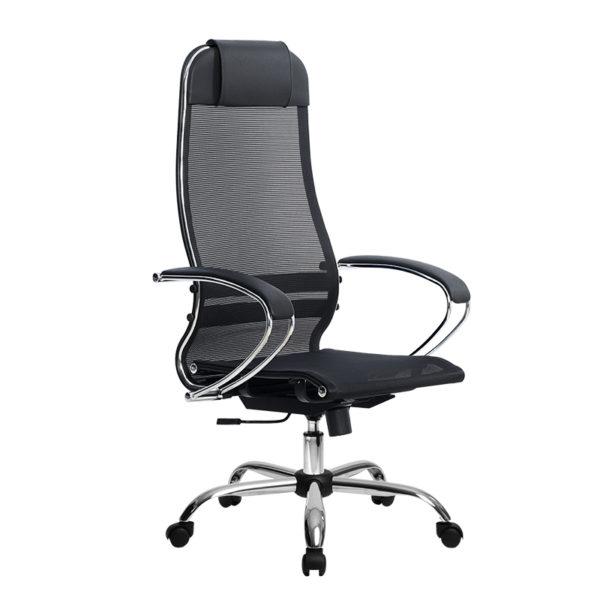 Кресло Metta SU-1-BK Комплект 12 хром овальное сечение